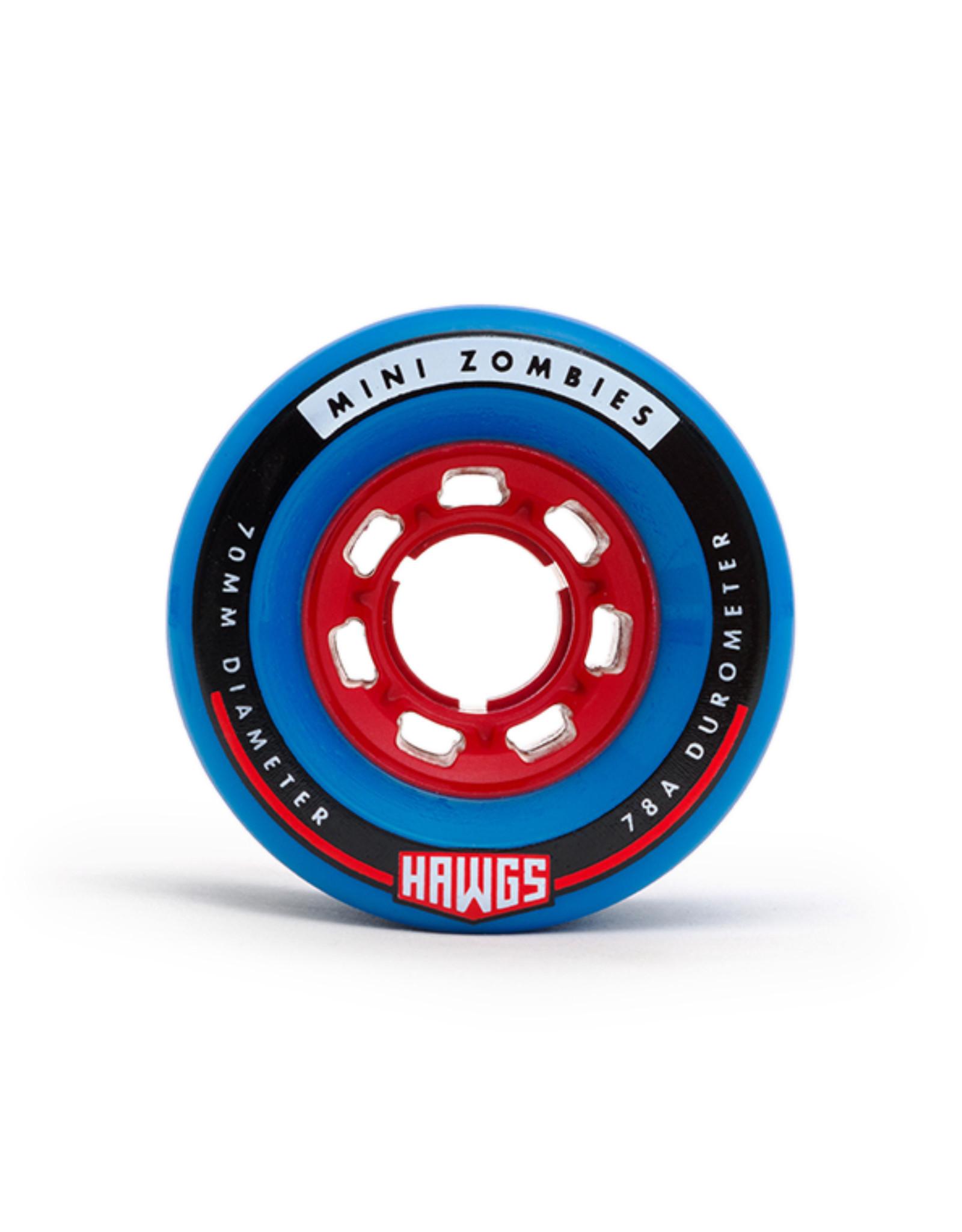 Hawgs Wheels Hawgs Mini Zombie Wheels 70 mm 78A Blue Set of 4