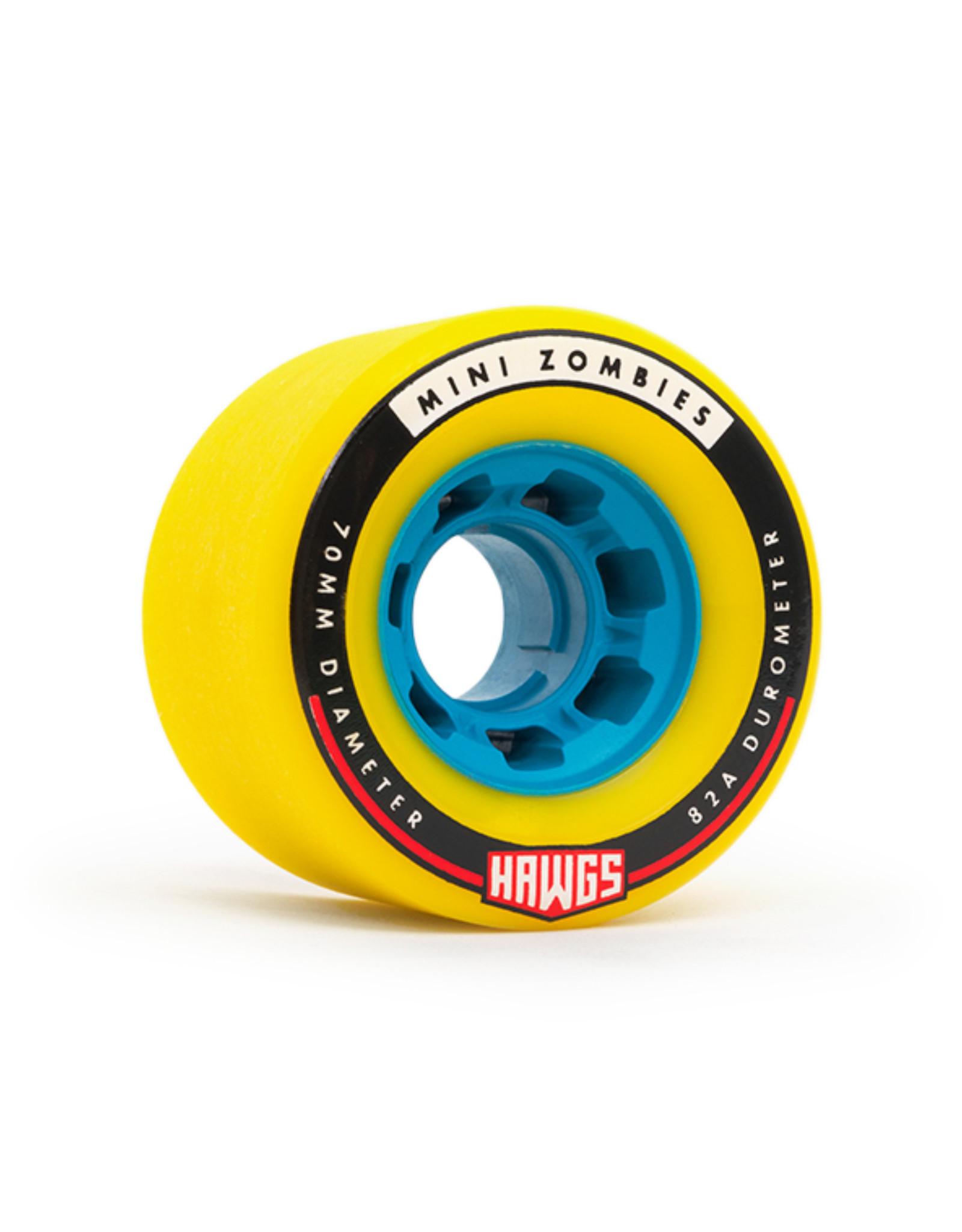 Hawgs Wheels Hawgs Mini Zombie Wheels 70 mm 82A Yellow Set of 4