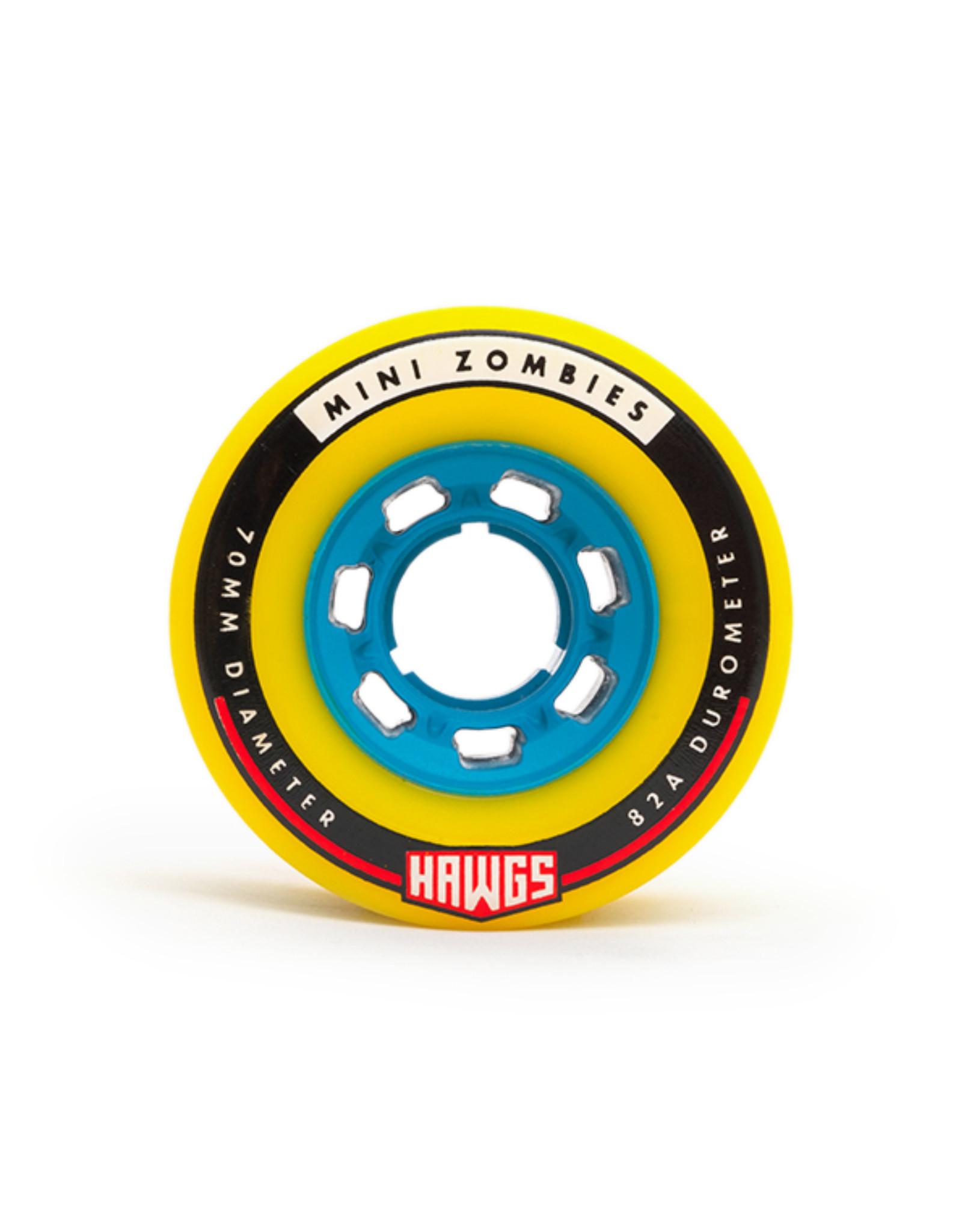 Hawgs Wheels Hawgs Mini Zombie Rollen 70 mm 82A Yellow 4er-Set