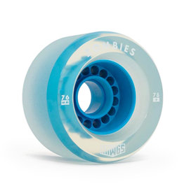 Hawgs Wheels Clear Zombie Blue