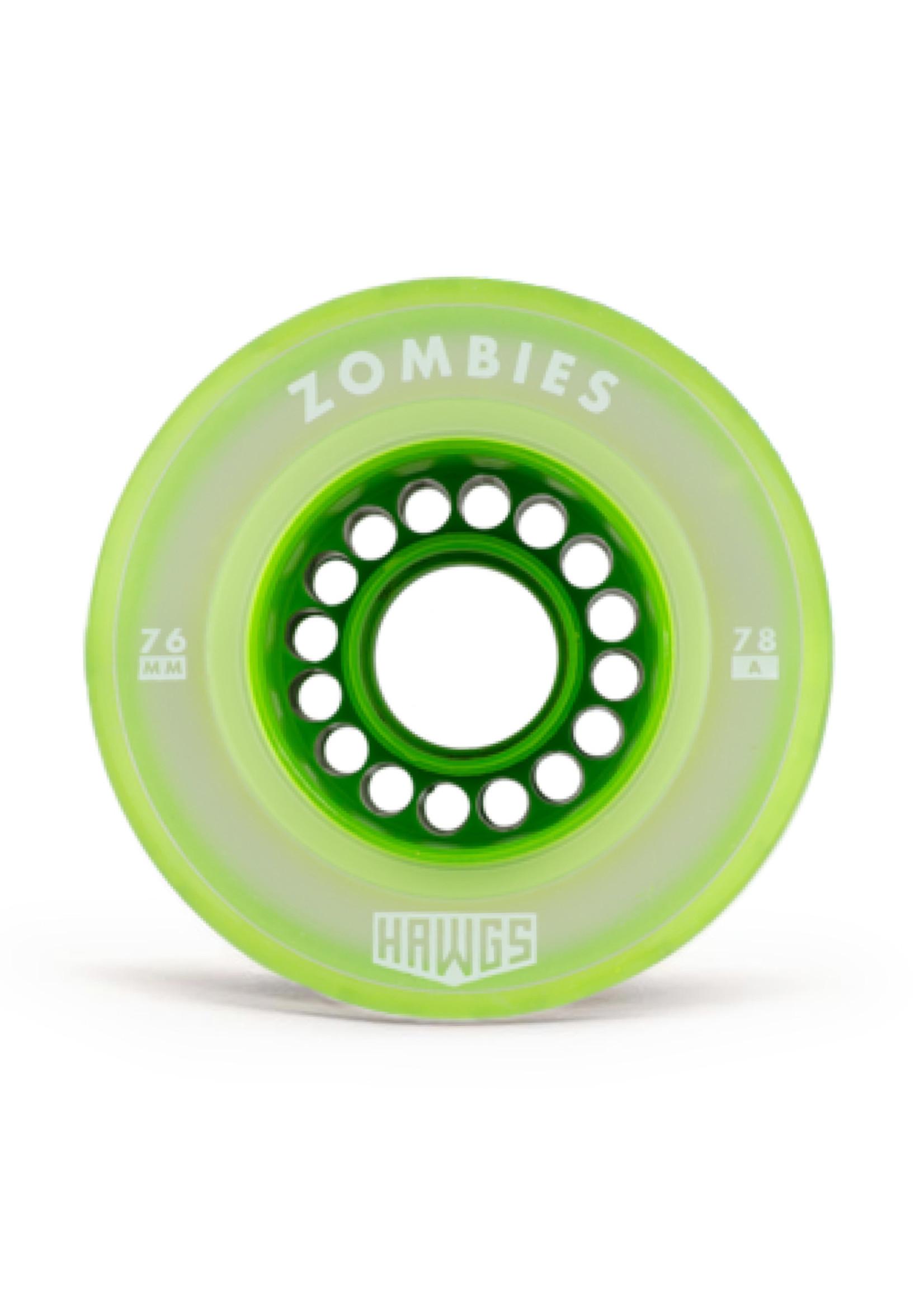 Hawgs Wheels Hawgs Clear Zombie Rollen 76 mm 78A Green 4er-Set