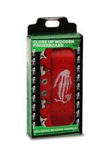 Close Up Fingerboards Close Up Skull Hand Red 34 mm Generation 5.1 Fingerboard Setup