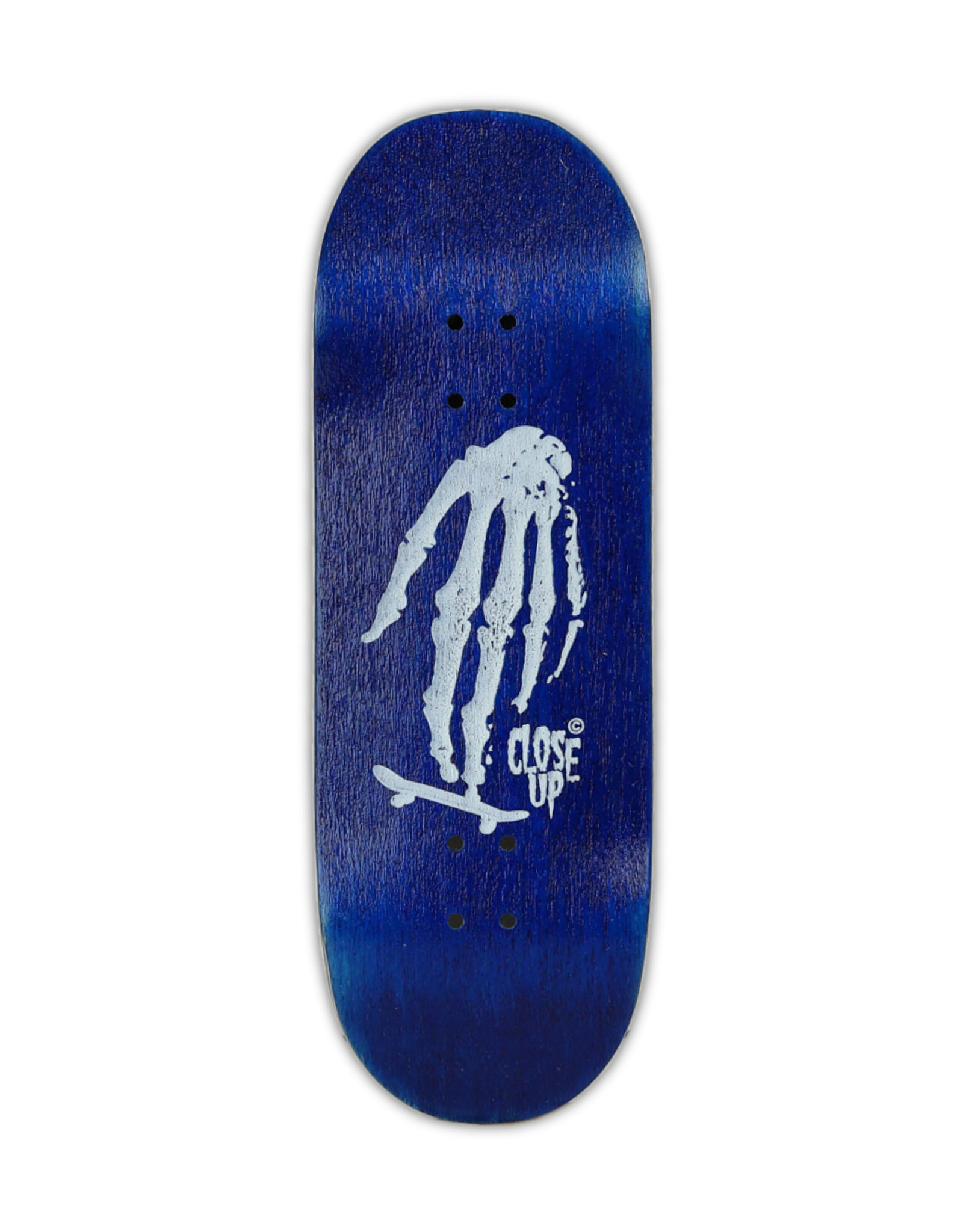 Close Up Fingerboards Close Up Skull Hand Blue 34 mm Generation 5.1 Fingerboard Setup