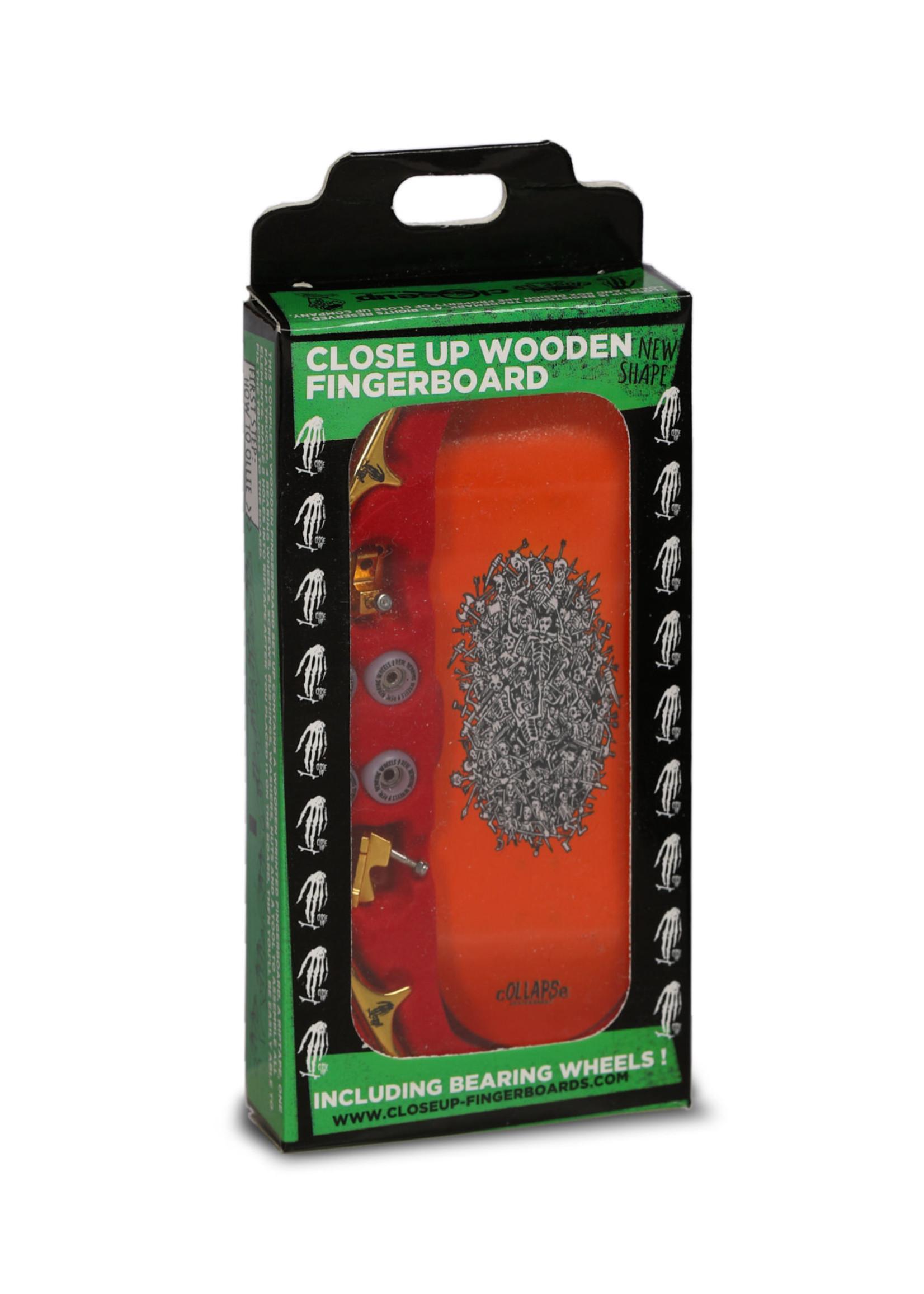 Close Up Fingerboards Close Up Collapse Skeletan Battle 34 mm Generation 5.1 Fingerboard Setup
