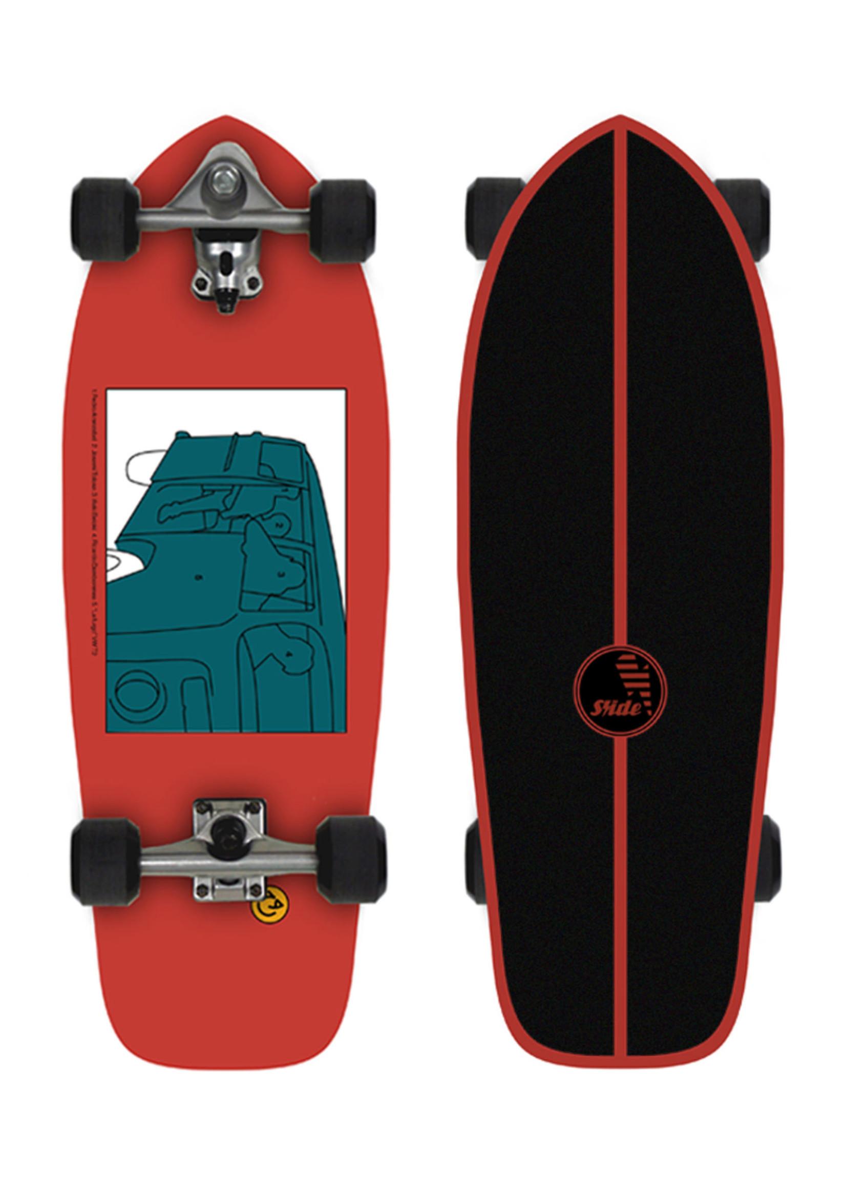 """Slide Surfskates Joy SK Heritage 30"""" Surfskate Komplettbrett"""