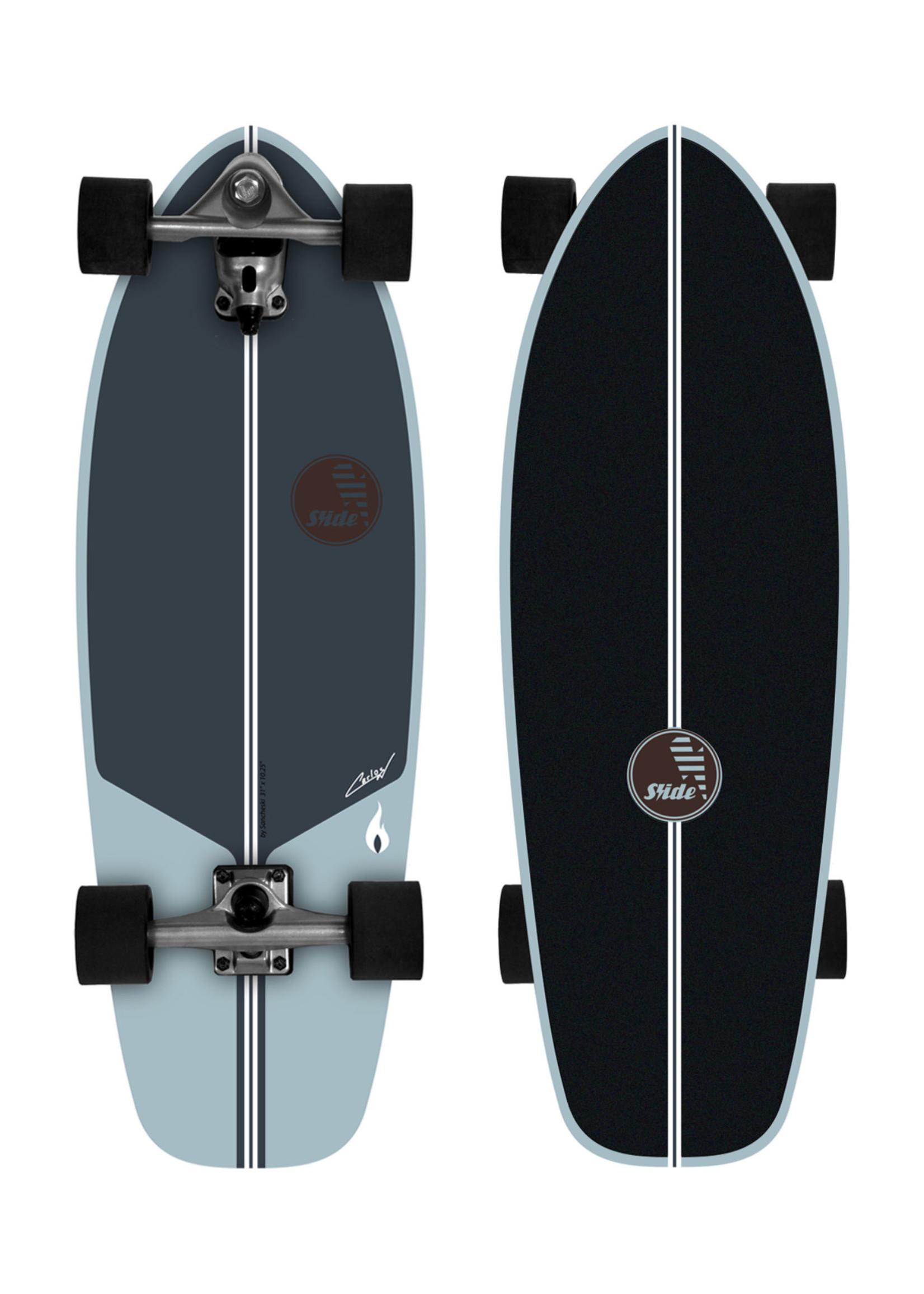"""Slide Surfskates Slide CMC Performance 31"""" Surfskate Komplettbrett"""