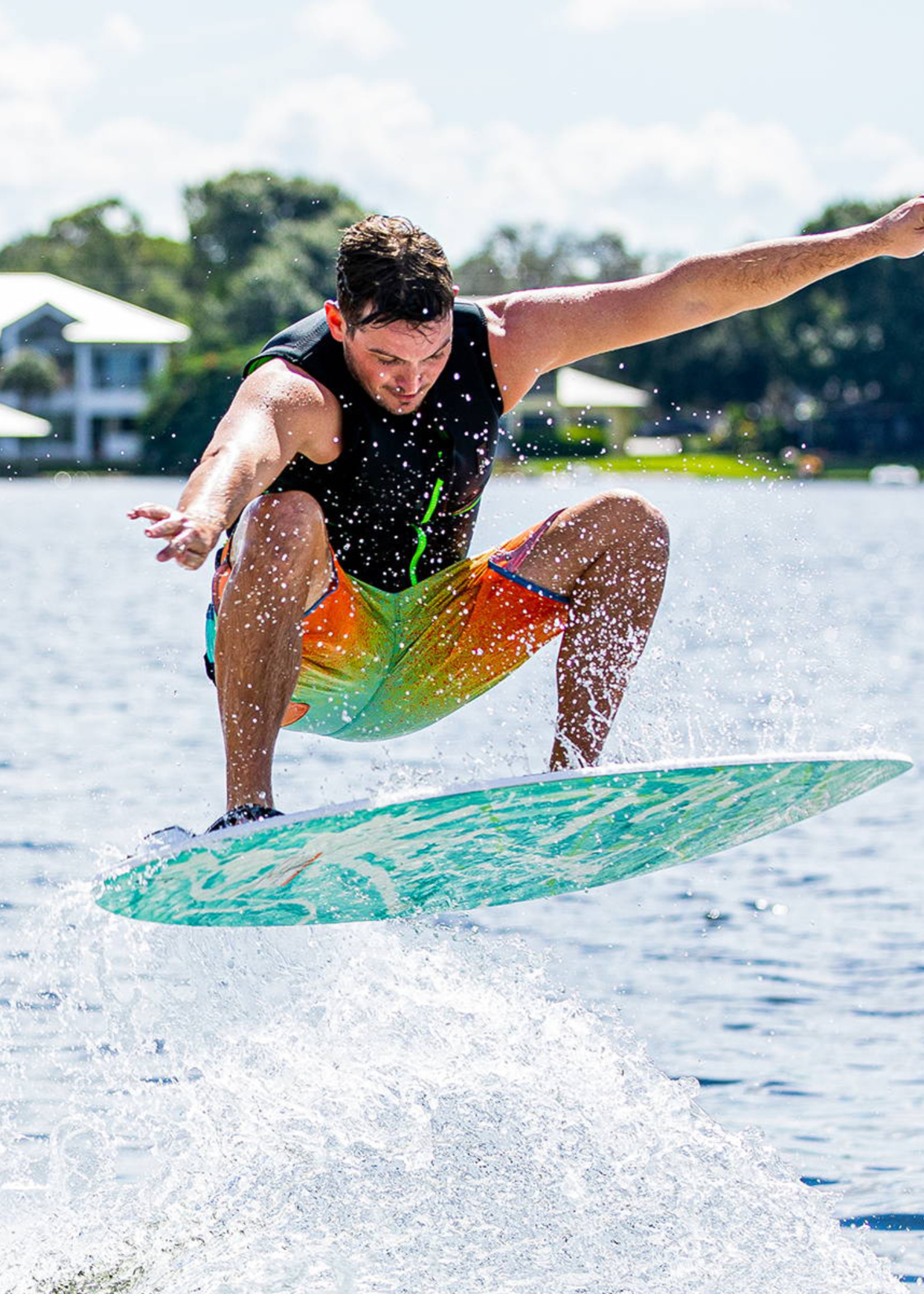 """Phase Five Phase Five Ratchet 54"""" Skim-Style Wakesurf mit Fußschlaufen"""