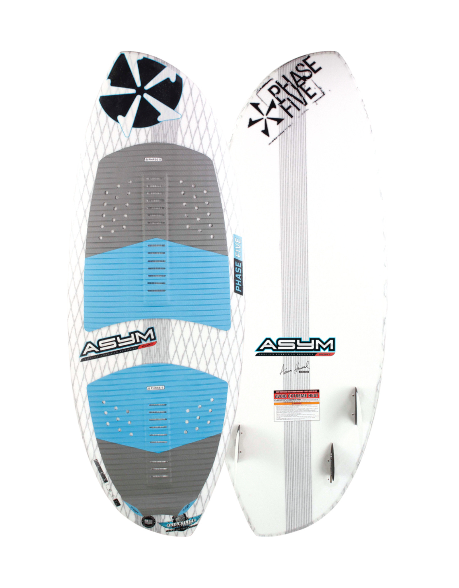 """Phase Five Phase Five Asym Port 55"""" Surf Style Wakesurf for Surfing Port Side"""