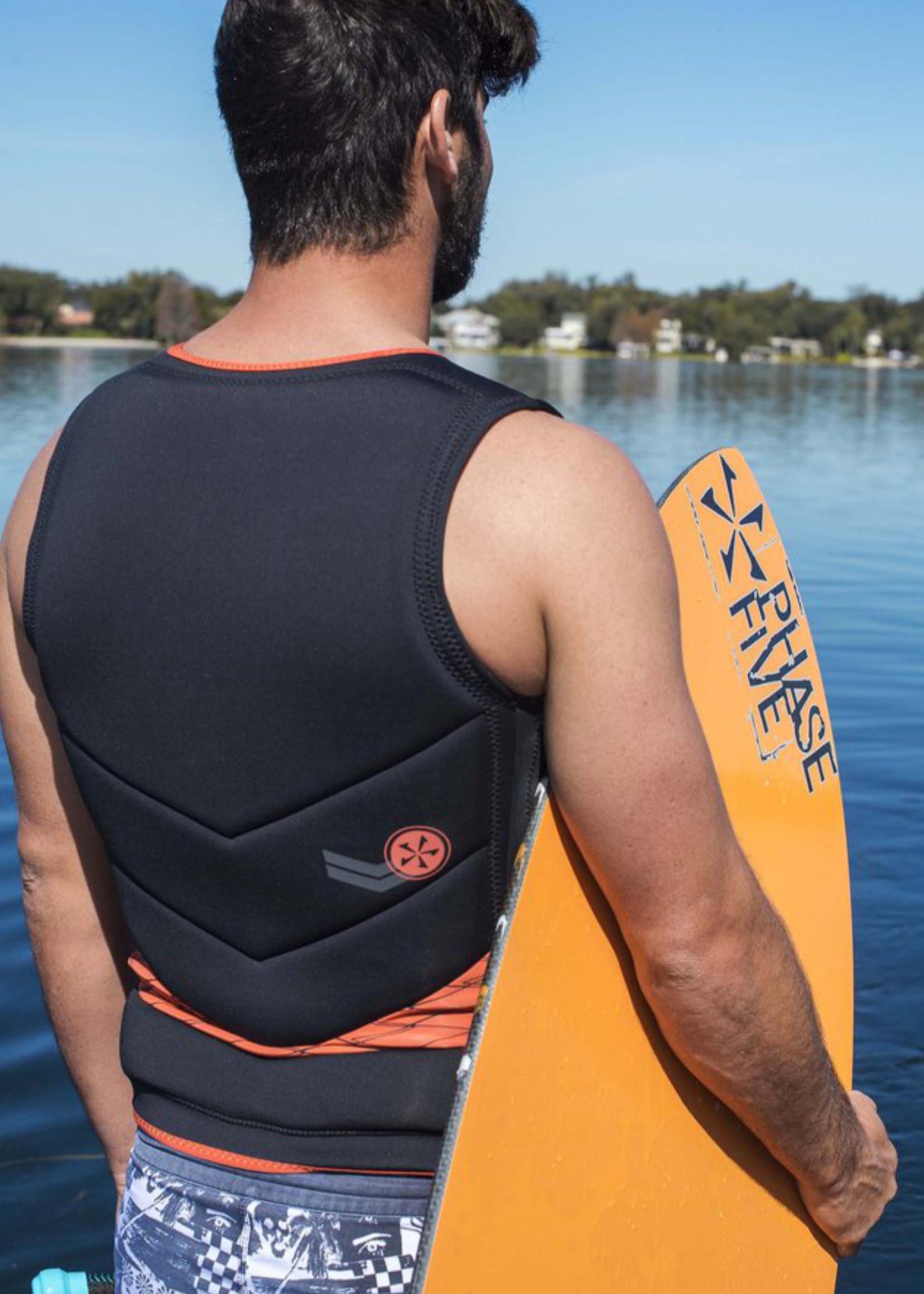 Phase Five Phase Five Mens Pro Wakesurfing Vest Orange