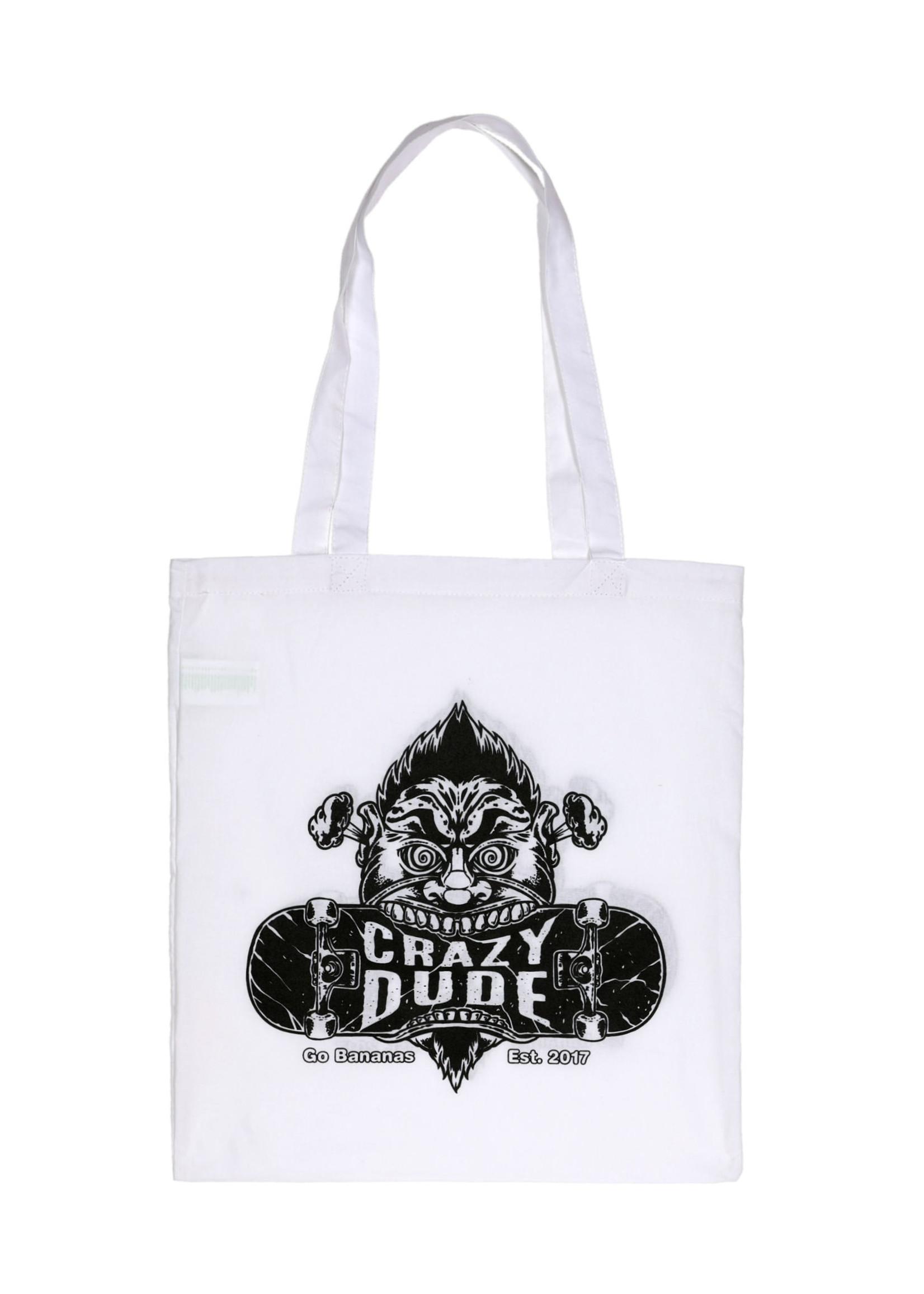 Crazy Dude Crazy Dude Einkaufstasche Destroyer Weiss