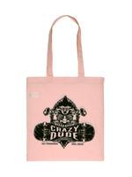 Crazy Dude Tote Bag Destroyer Pastel Pink