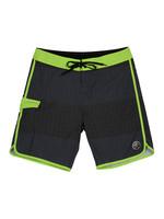 Phase Five Mens Boardshorts Black/Green