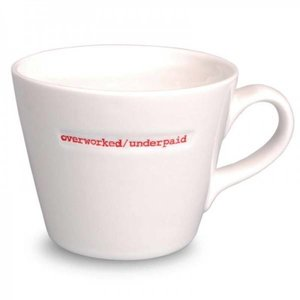 Keith Brymer Jones Bucket Mug 'Overworked/Underpaid' - Keith Brymer Jones