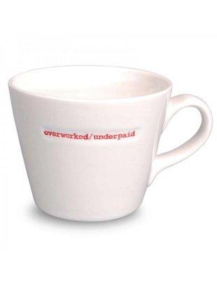 Keith Brymer Jones Bucket Mug 'Overworked/Underpaid' - Keith Brymer Jones