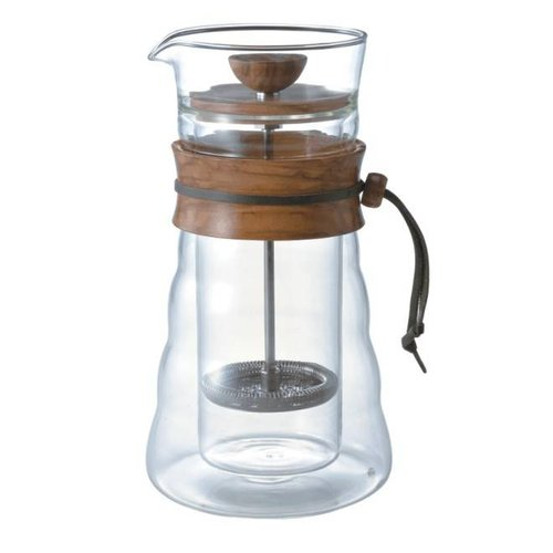 Hario Hario Duwpot Coffee Press Double Wall Olive Wood