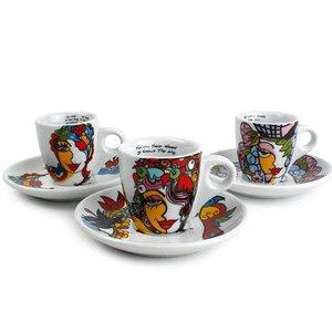 Josien Broeren Josien Broeren Espressokoppen en schotels [set 6 stuks]