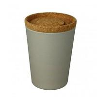Zuperzozial Voorraadbus Grijs met deksel van kurk | Store & Stack 1000 ml.