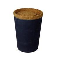 Zuperzozial Voorraadbus Zwart met deksel van kurk | Store & Stack 1000 ml.