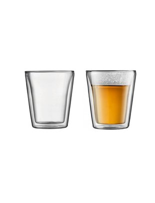 Bodum Bodum dubbelwandige glazen Canteen 0.1L [2 stuks]