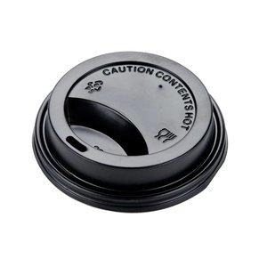 Brandmeester's Deksel Paper Cup 7oz zwart [50st.]