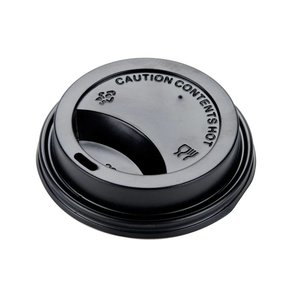 Brandmeester's Deksels Paper Cup 7oz Zwart [streng 50 stuks]