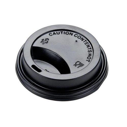 Brandmeester's Deksels Paper Cup 8oz Zwart [streng 50 stuks]