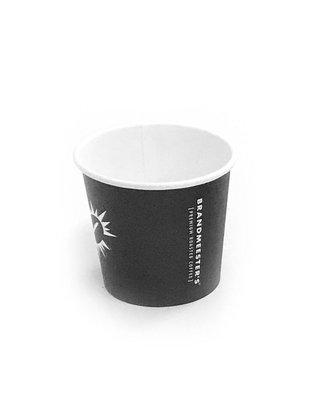 Brandmeester's Paper Cup 4oz Zwart [streng 50 stuks]