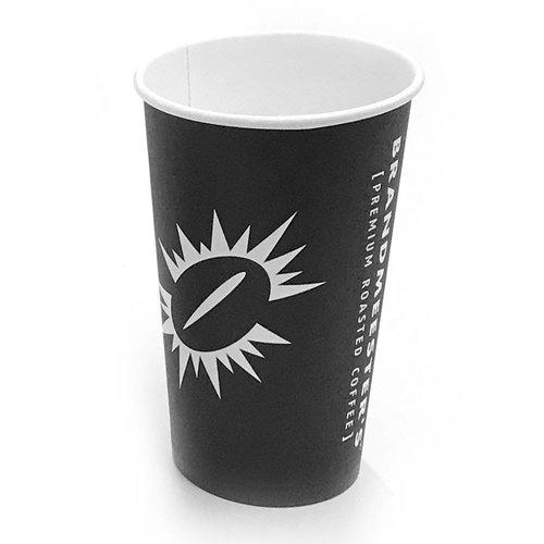 Brandmeester's Paper Cup 16oz Zwart [streng 50 stuks]