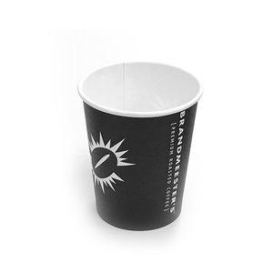 Brandmeester's Paper Cup 8oz zwart BIO [50st.]