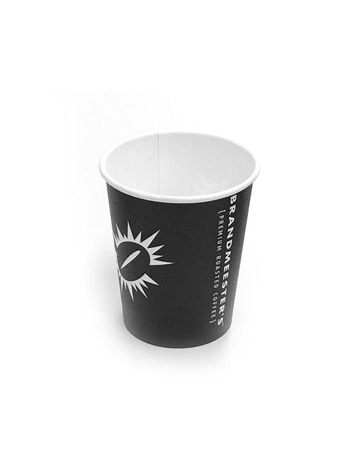 Brandmeester's Paper Cup 8OZ Zwart Biologisch afbreekbaar [streng 50 stuks]