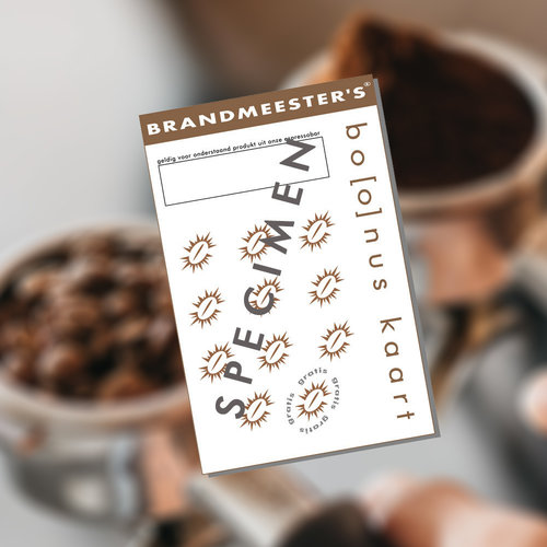 Brandmeester's Bonuskaart - 11x Dubbele Espresso