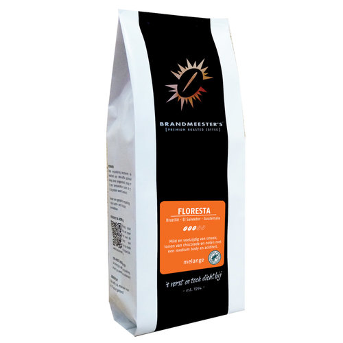 Brandmeester's Floresta (Rainforest Alliance) 1000 gram in ventielzak