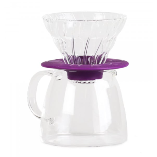 Hario Hario V60 Pour Over Kit Clair Paars