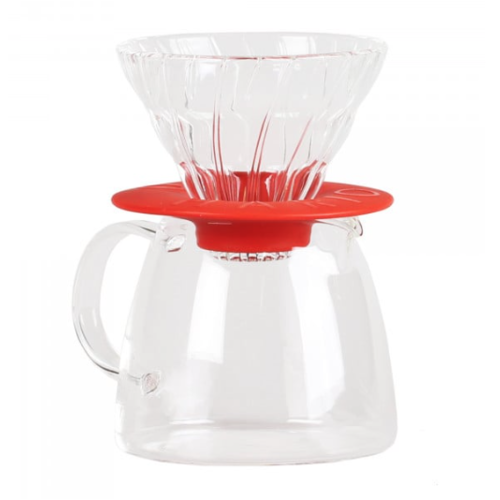 Hario Hario V60 Pour Over Kit Clair Rood