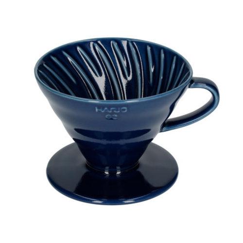 Hario Hario Dripper V60 Porselein #2 - Indigo Blauw
