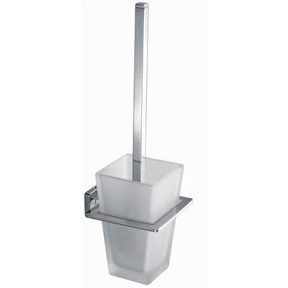 Toiletborstelgarnituur vierkant Chroom