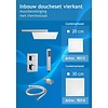 Doucheset inbouw met thermostaat en muurbevestiging / douchekop 30 cm vierkant Chroom