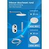 Doucheset inbouw met thermostaat en muurbevestiging / douchekop 20 cm rond Chroom