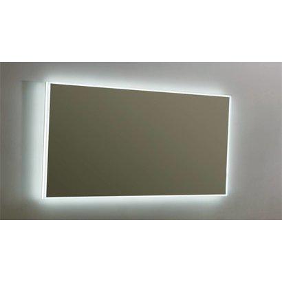 Aluminium spiegel infinity met rondom LED verlichting, 3 kleur instelbaar & dimbaar 140