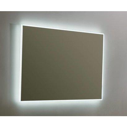 Aluminium spiegel infinity met rondom LED verlichting en 3 kleur instelbaar & dimbaar 100 incl. spiegelverwarming