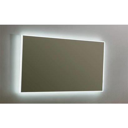 Aluminium spiegel infinity met rondom LED verlichting en 3 kleur instelbaar & dimbaar 120 incl. spiegelverwarming