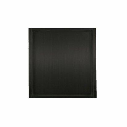 Inbouw RVS mat zwart wandnis 30x30x7 cm