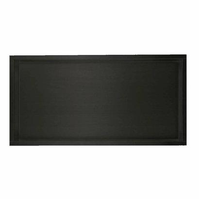 Inbouw RVS mat zwart wandnis 30x60x7 cm