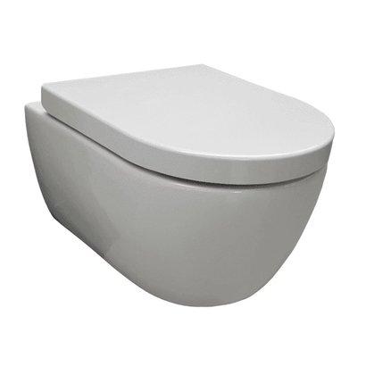 Wandcloset easy flush rimfree compact 36x48x25 cm met softclose zitting