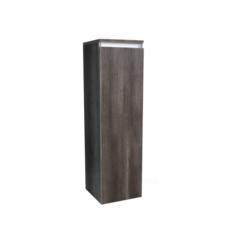Kolomkast Trendline half hoog met greeplijst aluminium