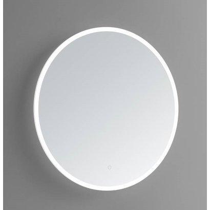 Ronde spiegel met LED verlichting en 3 kleur instelbaar & dimbaar 100 incl. spiegelverwarming