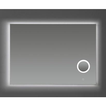 Aluminium spiegel met make-up spiegel met LED verlichting en 3 kleur instelbaar & dimbaar 100 incl. spiegelverwarming
