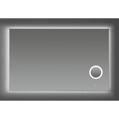 Aluminium spiegel met make-up spiegel met LED verlichting en 3 kleur instelbaar & dimbaar 120 incl. spiegelverwarming