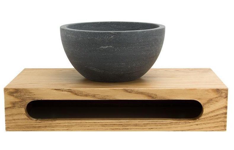 Wood planchet met kom