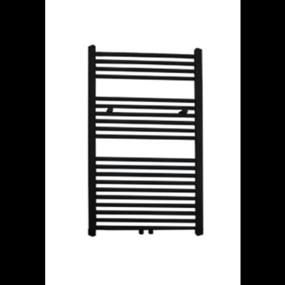Radiator Lydia 120x60 cm mat zwart met midden-onderaansluiting